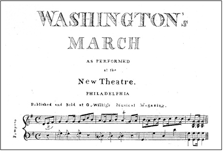 Washingtons March period music